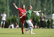 Jiskra Mšeno A - FK Jablonec, 1:4, pohárový zápas MOL CUPu, ve kterém domácí drželi s prvoligovým týmem krok.