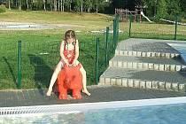 Jablonec. Bazén - Sluneční louka.