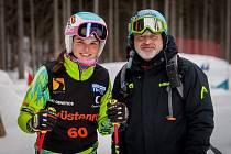 Diana Cholenská s trenérem Martinem Lomským, od kterého dostala super základy už v žákovské kariéře.