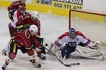 Jablonečtí hokejisté porazili na domácím ledě Pelhřimov 5:2.