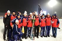 Petr Garabík se svým americkým týmem.