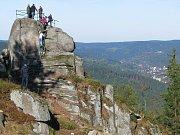 Obnovená skalní vyhlídka na Tanvaldském Špičáku