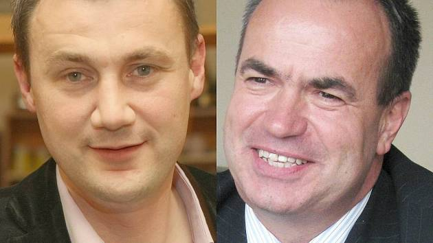 Stanislav Eichler za ČSSD (vpravo) a Martin Půta za Starosty pro Liberecký kraj.