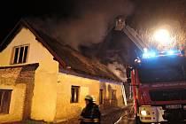Požár v Proseči u Semil