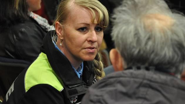 Na setkání nechyběla ani Pavla Sochorová z Městské policie, která je okrskářkou v centru Jablonce.