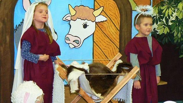 Vánoční besídku si minulý týden připravily rovněž děti z MŠ v Zásadě.