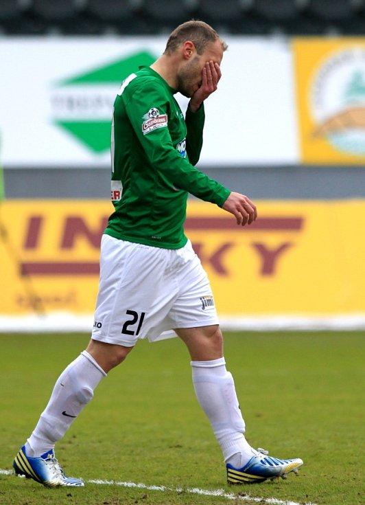 Jablonec porazil doma Brno 2:0. Na snímku Michal Hubník, který měl v zápase několik stoprocentních šancí. Gól ale nedal.