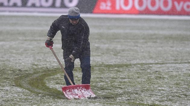 Sněhová kalamita na Střelnici.