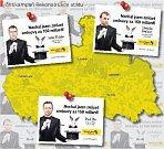 VENKOVNÍ REKLAMNÍ PLOCHY si Rekonstrukce státu pronajala v blízkosti kanceláří dotčených poslanců. Taková je situace v Libereckém kraji.