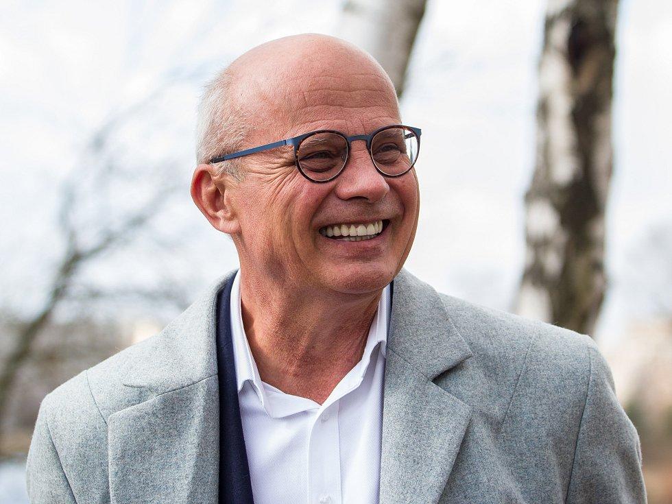 Kandidát na prezidenta Michal Horáček při návštěvě v Jablonci nad Nisou.