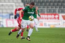 Zápas 13. kola první fotbalové ligy mezi týmy FK Jablonec a FC Zbrojovka Brno se odehrál 5. listopadu na stadionu Střelnice v Jablonci nad Nisou. Na snímku je Stanislav Tecl.