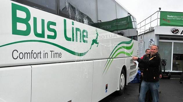 Křest nových autobusů.