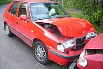 V sobotu 7. června v 17.15 hodin došlo na silnici vedoucí z obce Huntířov na Splzov k dopravní nehodě, jejímž výsledkem je zranění mladé  řidičky.