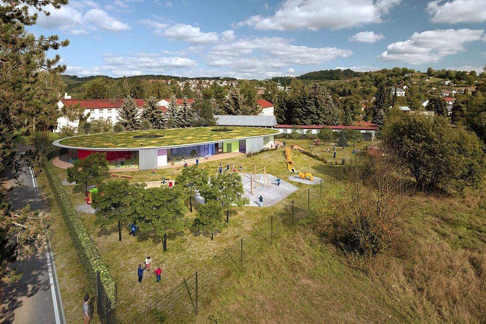Vizualizace nové mateřské školy Treperka v Semilech.
