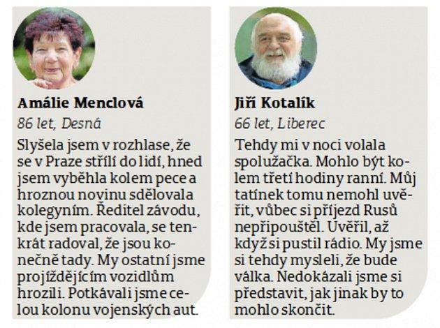 Čtenáři Deníku vzpomínají na události ze srpna 1968.