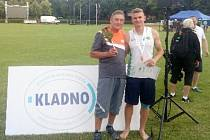 Trenér František Špoták se svým svěřencem Tomášem Pulíčkem.