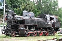 Parní lokomotiva.