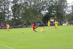 První a zároveň premiérový zápas domácích v divizi. FK Jiskra Mšeno - FK Čechie Výkáň 3:1 (1:0). V červených dresech FK Mšeno. Na zápas se přišlo podívat 150 diváků.