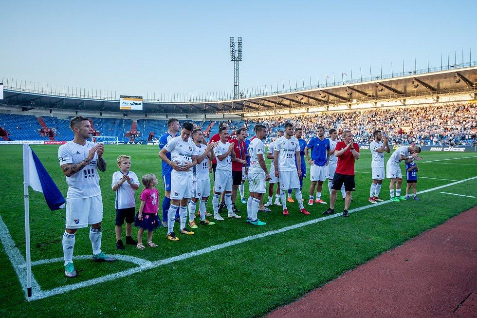 Utkání 1. kola první fotbalové ligy: Baník Ostrava - FK Jablonec, 23. července 2018 v Ostravě.