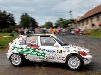 Jablonecká posádka Tomáš Grega – Jiří Ježek poslední závod v Tišnově vyhrála.