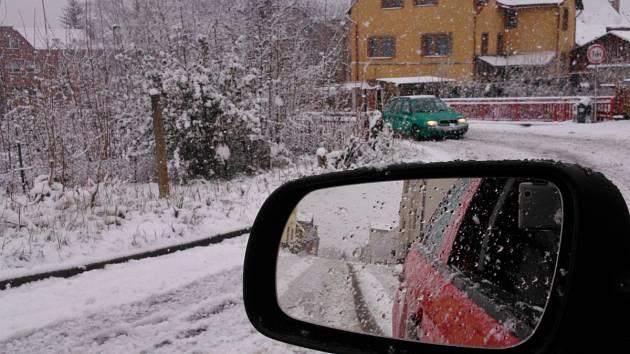 Sníh v Jablonci