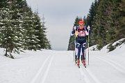 Jizerská 50, závod v klasickém lyžování na 50 kilometrů zařazený do seriálu dálkových běhů Ski Classics, proběhl 18. února 2018 již po jedenapadesáté. Na snímku je Kateřina Smutná.