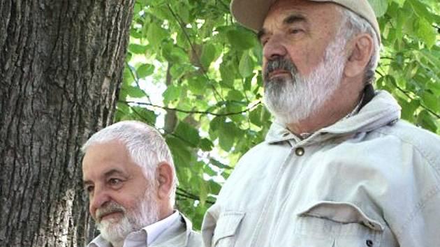 Starosta Petr Polák a Zdeněk Svěrák