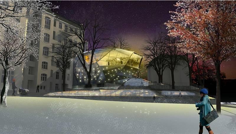 Přístavba hlavní budovy Muzea skla a bižuterie v Jablonci nad Nisou.