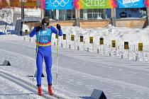 Innsbruck 2012. Petr Knop (s číslem 45) skončil v závodě na 10 kilometrů na 9. místě.