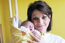 Leona Klickaničová se  svým miminkem Sarah
