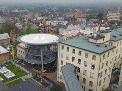 Krajská nemocnice Liberec - pohled na heliport