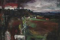 Josef Jíra, Na Horkách, 1981, olej, plátno (Z výstavy v Železném Brodě)