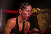 Galavečer bojových sportů, Iron Night Fight 3, proběhl 22. února v městské hale v Jablonci nad Nisou. Na snímku je Michaela Kerlehová v kategorii světový titul WKU do 52 kilogramů.