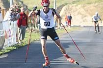 Mistrovství České republiky dospělých v běhu na kolečkových lyžích 2008 a v běhu do vrchu 2008 v Liberci Vesci. Lukáš Bauer.