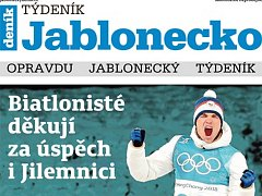 První vydání nového Týdeníku Jablonecko.