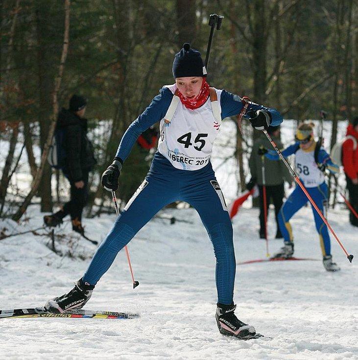 EYOWF 2011. Biatlon - dívky individuálně 10 kilometrů se jel v úterý v jabloneckých Břízkách. Bronzová skončila Uliana Kaysheva (RUS).