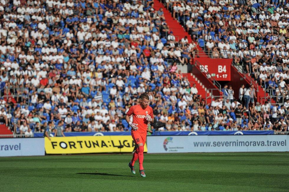 Utkání 1. kola první fotbalové ligy: Baník Ostrava - FK Jablonec, 23. července 2018 v Ostravě. Hrubý Vlastimil.