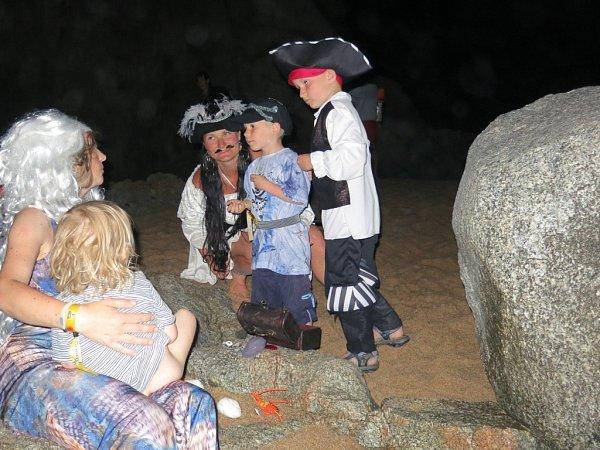 Ti nejmladší si za mořskou pannou troufli jen vdoprovodu kapitánky Martiny.