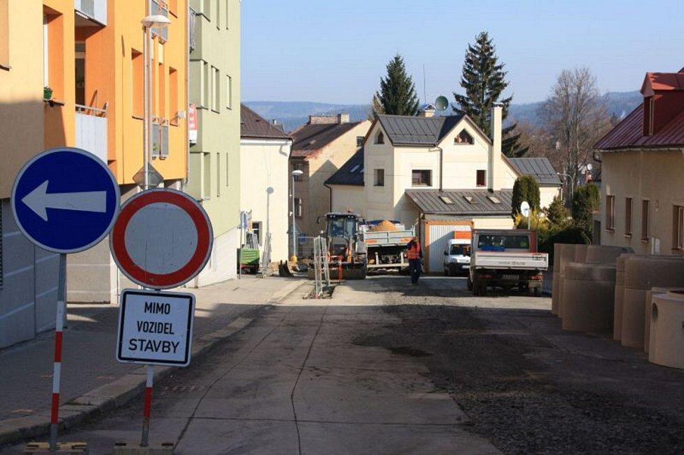 Rekonstrukce v Lesní ulici v Jablonci