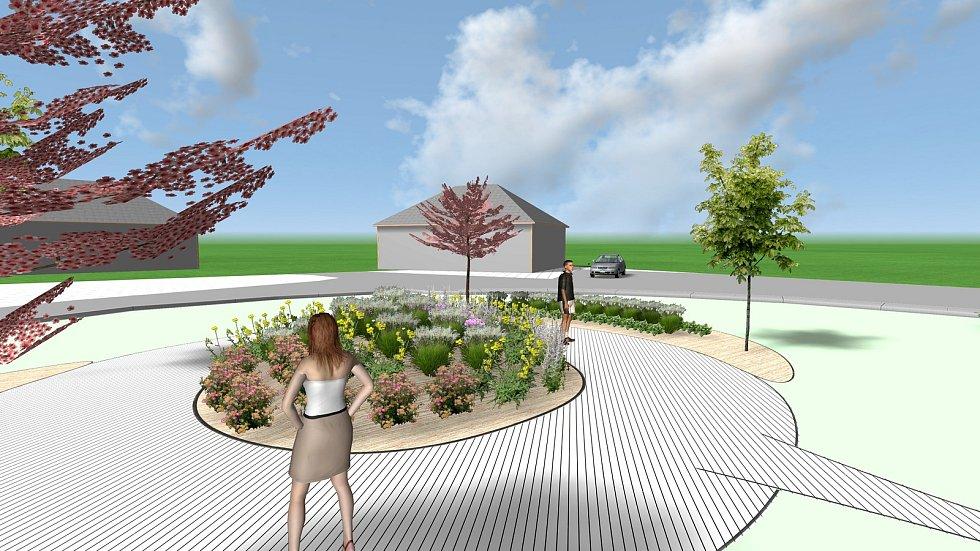 Vizualizace nové podoby terminálu u vlakového nádraží v Rychnově u Jablonce nad Nisou.