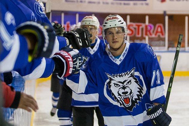 Jablonečtí Vlci (II. liga) mají nové dresy a ty jim v Mostě přinesly štěstí. HC Most - HC Vlci Jablonec 1:5.
