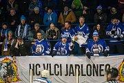 Třetí zápas čtvrtfinále play off 2. ligy ledního hokeje skupiny Střed + Západ se odehrál 18. března na zimním stadionu v Jablonci nad Nisou. Utkaly se týmy HC Vlci Jablonec nad Nisou a HC Stadion Vrchlabí.
