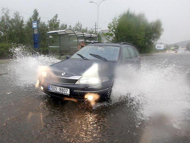 Přívalový déšť. Ilustrační snímek.