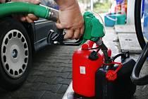 Benzínová čerpací stanice. Ilustrační snímek