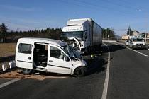 Těžká nehoda U Liberce.