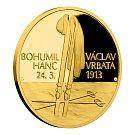 Běžec na lyžích Stanislav Řezáč vyrazil v České mincovně první pamětní medaili k tragickému příběhu Hanče a Vrbaty.
