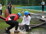 Sbor dobrovolných hasičů Zlatá Olešnice. Trochu více vody.