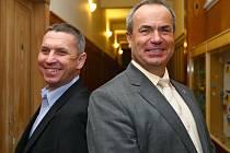 Kandidáti do Senátu za Jablonecko a Semilsko Jaroslav Zeman (ODS) - vlevo a Stanislav Eichler (ČSSD).