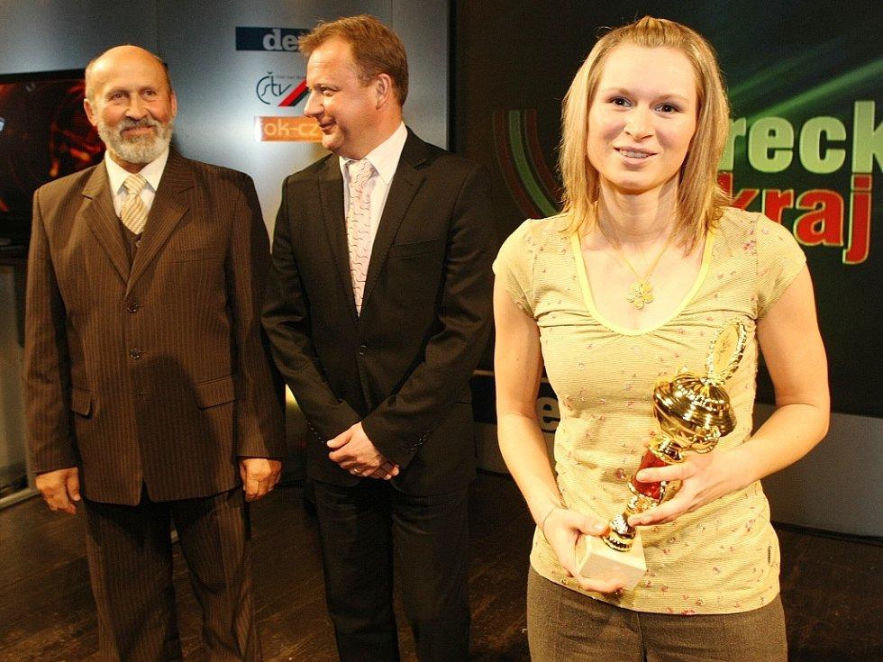 """Vyhlášení ankety """"Sportovec Libereckého kraje 2008"""" v divadle F. X. Šaldy. 4. SPK Jablonex Jablonec n. N. (biatlon)."""