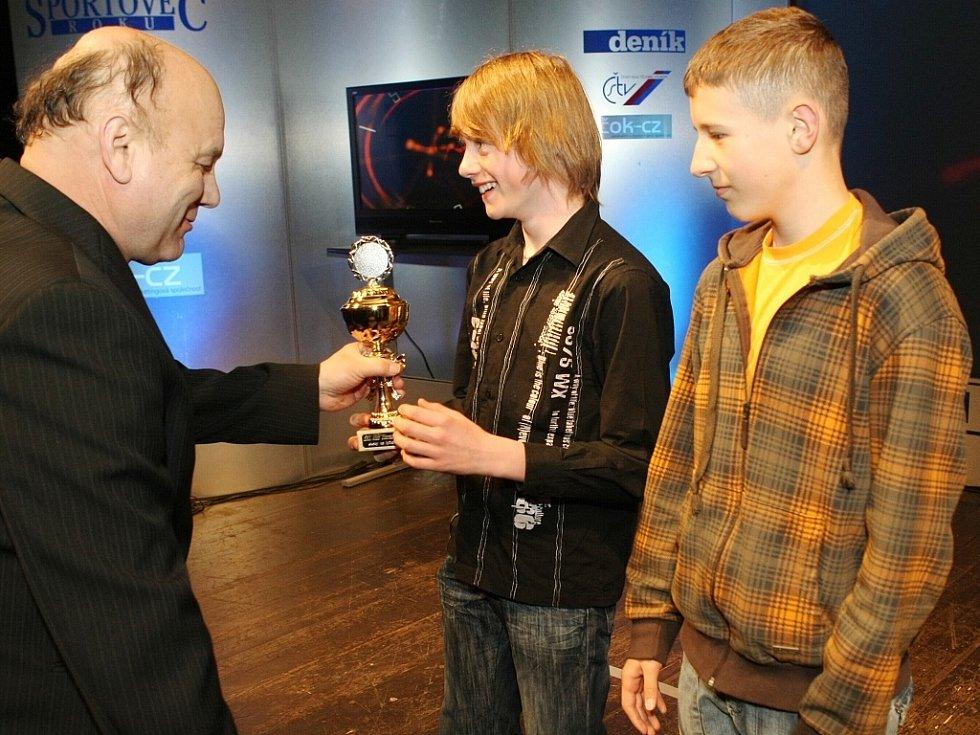 "Vyhlášení ankety ""Sportovec Libereckého kraje 2008"" v divadle F. X. Šaldy. 4. SKI klub Harrachov (skoky na lyžích)."
